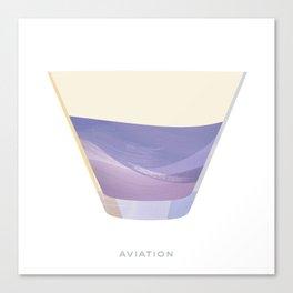 Cocktail Hour: Aviation Canvas Print