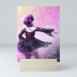 Liatris, Dramatic Goth Catlady Mini Art Print