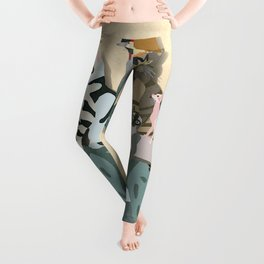Dogs, cats, birds Leggings