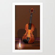 The old Violin Art Print
