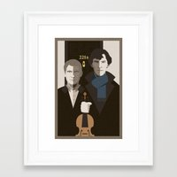 british Framed Art Prints featuring British Gothic by Danny Haas