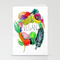 vegan Stationery Cards featuring Vegan  by BriannaCamp
