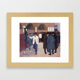 Horse Dealers at The Barbican by Robert Polhill Bevan Framed Art Print