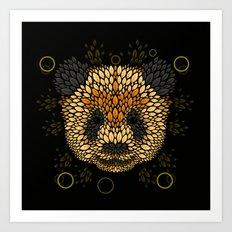 Panda Face Art Print