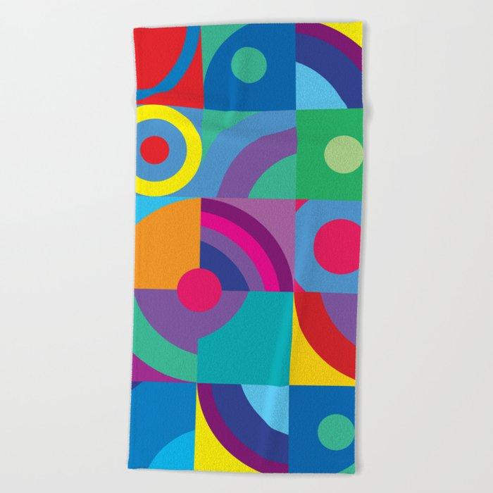 Geometric Figures in color Beach Towel