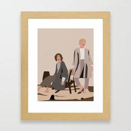 Beige. Minimalist illustration Framed Art Print