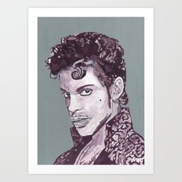 Prince in Purple Art Print