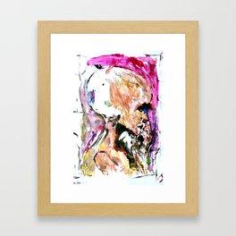 Abstract 96 - Alien Head Framed Art Print