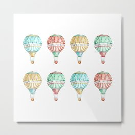 Colorful Hot Air Balloon Metal Print