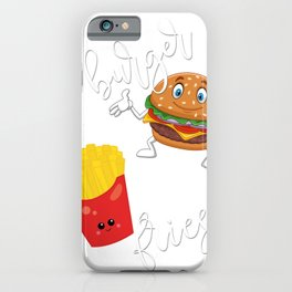 You're the Burger to My Fries Valentines Day Love Couple Gift iPhone Case