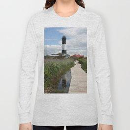 Fire Island Light With Reflection - Long Island Long Sleeve T-shirt