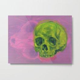 Two Skulls Metal Print