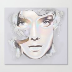 HER BREATH ON GLASS Canvas Print