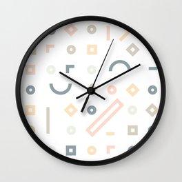 Pasteli Lineas Wall Clock