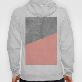 Coral Pink Concrete Hoody