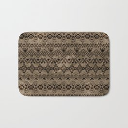 Ethnic Tribal  Pattern on canvas Bath Mat