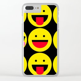 emoticons designs Clear iPhone Case