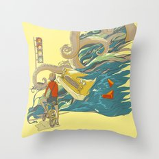 Traffic Monday Throw Pillow