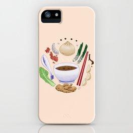 Dumpling Diagram iPhone Case