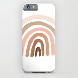 rainbow pink minimalist iPhone Case