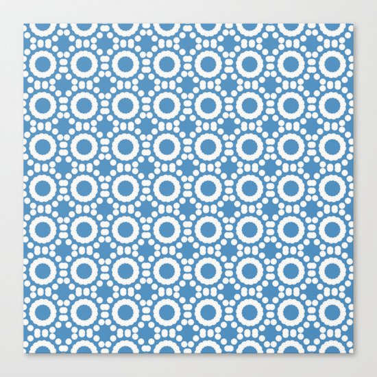 Round and Round Blue Canvas Print