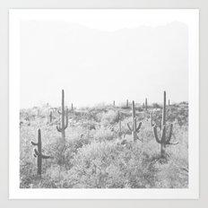 Black and White Desert Art Print