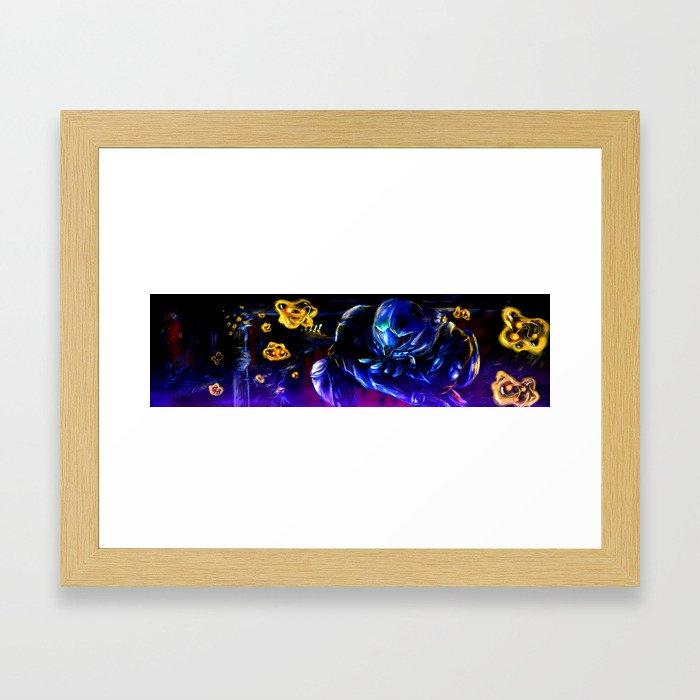 Metroid Metal: Sector 1 Framed Art Print