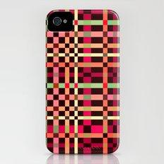Little squares pattern! Slim Case iPhone (4, 4s)