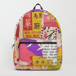 Colorful Collage Backpack