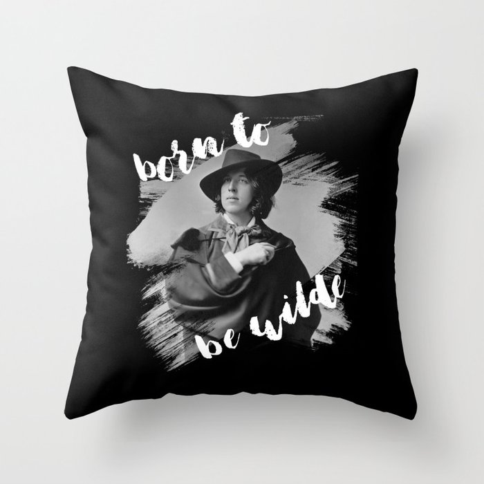 Oscar Wilde pillow for college dorm bed