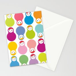 dolls matryoshka on white background Stationery Cards