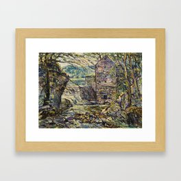 Ernest Lawson 1873 - 1939 THE MILL Framed Art Print