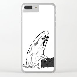 """""""Scary Sheets"""" Clear iPhone Case"""