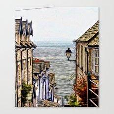 Clovelly Village Canvas Print