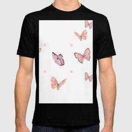 Pink butterflies T-shirt