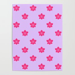 Pink orchid pattern Poster