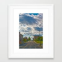 dwight Framed Art Prints featuring Dwight st by Drv Photo