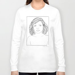 ANDY WARHOL POLAROIDS - DEBBIE-BLONDIE.  PORTRAIT    Long Sleeve T-shirt