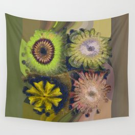 Methylator Structure Flowers  ID:16165-011604-36970 Wall Tapestry