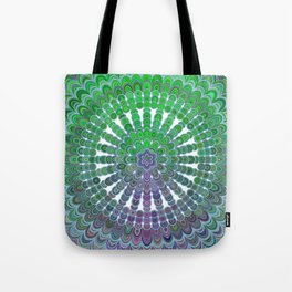 Spring Mandala Wheel Tote Bag