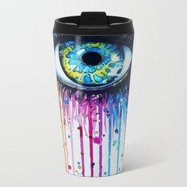 Color eyes Metal Travel Mug