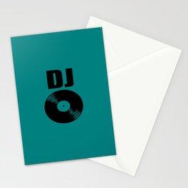 Dj record music logo Stationery Cards