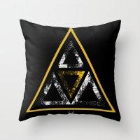illuminati Throw Pillows featuring Illuminati by Haych