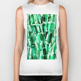 Green Sugarcane, Unripe Biker Tank