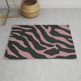Tiger Skin Pattern Old Rose Rug