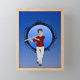 Flute Player Framed Mini Art Print
