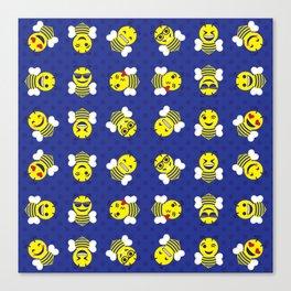 Yellowjacket Emojis Canvas Print
