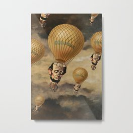 Attack of the Abe Heads Metal Print