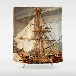 Nelson's HMS Victory Model Shower Curtain