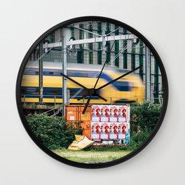 Commuter Train Wall Clock